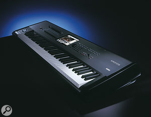 The 73‑note version of the Kronos employs the fully‑weighted RH3 keyboard found on Korg's SV1.