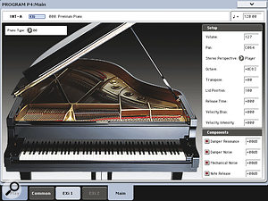 Korg have written adedicated Expansion Instrument (EXi) to make best use of their two new families of grand piano samples. Despite being very simple to use, the results can be outstanding.