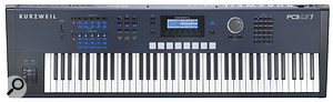 The front panel features hands‑on control in the form of five assignable rotary knobs and eight drum pads, and offers dedicated mode buttons, a numeric keypad and an alpha wheel and cursor buttons to assist you in navigating the keyboard's inner workings.