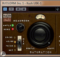 The Saturation section features aHeadroom control, which is used to find the distorting 'sweet spot'.