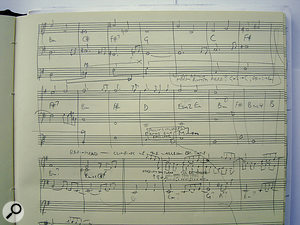 Transcribing the musical elements of your favourite productions — whether on manuscript as shown here, as a chord chart, or in a sequencer — is excellent ear‑training, and also serves as an excellent source of ideas.