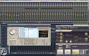 The screenshots here and on the next page show some of John's sequencing setup, including Vienna Ensemble Pro, Pro Tools 9, Altiverb and Omnisphere.