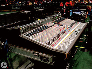 Pab's favourite mixing desk remains the Midas XL4. An analogue desk launched in 1995, it's not exactly state of the art, but he swears by the musical EQ and solid reliability.