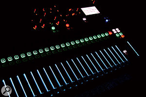 The illumination of the Si Compact's faders is colour coded, changing to represent the function th