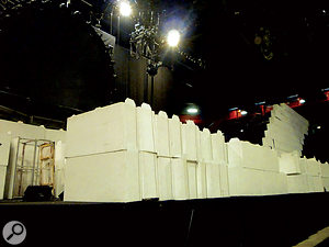 The cardboard bricks used to build the famous Wall arrive flat packed, and are assembled by the crew.