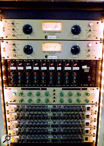 One of the few effects racks used for the show, including many units familiar to studio producers, such as the Summit Audio TLA 100A tube limiters used for Roger and Robbie's vocals and aCranesong STC8 used for the bass.