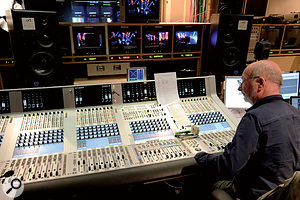 Mike Felton at the Studer Vista digital console used to mix Later.