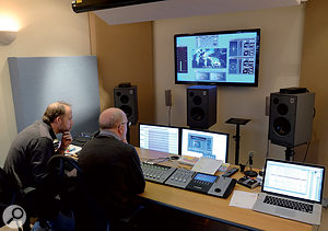 Tudor Davies' post-production suite employs Euphonix Artist controllers and a surround setup of Harbeth Monitor 30 speakers.