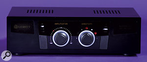 The power supply houses buttons for choosing the microphone's filter and pad settings, as well as rotary controls for selecting the polar pattern, and blending between the valve and FET impedance-conversion circuitry.