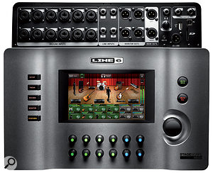 All of the M20D's inputs and outputs reside on the top panel. The only physical controls are the 12 encoders, seven switches and the large rotary control.