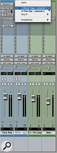MIDI tracks in Live appear as MIDI destinations in Pro Tools' instrument tracks.
