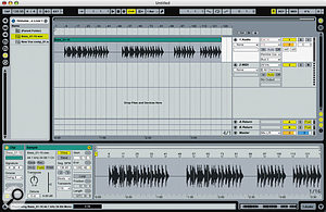 Once imported into Live, you can tighten up the bass recording using Warp Markers.