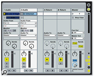 Click the 'X' icon to display the crossfader and A/B assignment buttons.