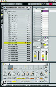 <em>Live 6</em>'s Hot Swap function lets you browse presets and samples in context.