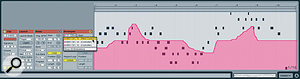 MIDI continuous controller data recorded in a Clip can be viewed in the Clip Envelopes section.