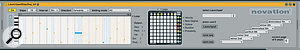 Novation's step sequencer for the Launchpad in Max For Live.