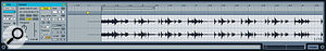 Here we see Live's familiar waveform view with the associated warp markers. The most important thing here is to make sure that the very start of the track is aligned perfectly with the beat.