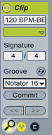 In addition to drag‑and‑drop, grooves can be added or removed in the Clip View.