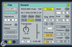 If you know the key of asong you want to play you can use the Transpose option in the Clip Properties box to shift the key, within reason, to make Harmonic Mixing much easier.