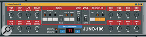 Neil Bufkin's authentically‑styled editor for the Roland Juno 106