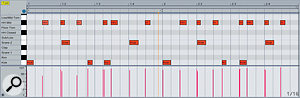 A MIDI drum loop played with some groove, which can be extracted.