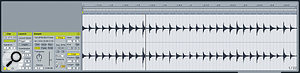 A hi‑hat audio loop, before and after committing agroove.