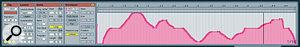 A recorded MIDI CC modulation envelope.