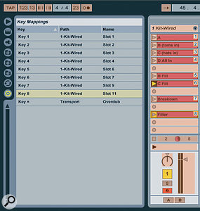 MIDI controllers or computer keys can be assigned to trigger different patterns.