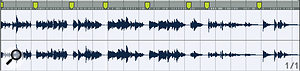 Warp Markers have been roughly positioned to separate individual loops in this collection of 82bpm guitar loops.