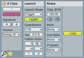 These Clip Launch settings allow for fast chopping between loops.