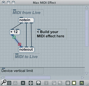 A MIDI effect working as a transposer.