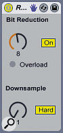 Adding some retro 8‑bit flavour to synth sounds using Redux's Bit Reduction control.