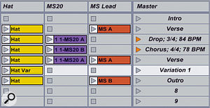 Time signature changes are added to Session scenes by simply including them in their names.