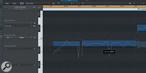 Adjusting 'hotspots' in the Audio Track Editor.