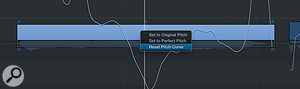 Use 'Reset Pitch Curve' to reset pitch drift and vibrato.