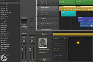 Logic's Drum Machine patches in the Library using Ultrabeat can be assigned to the Drummer feature.