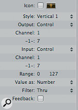 The Inspector for the volume control object.