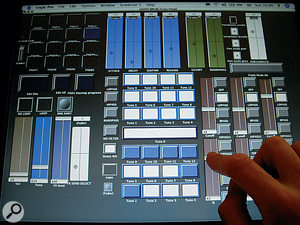 The touchscreen interface Imade for my Akai MPC4000.