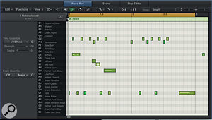 The names of drum instruments are now visible in the Piano Roll editor.