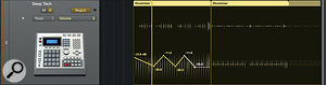 Logic now offers both region-based (top) and track-based (bottom) automation, which are coalesced on playback.