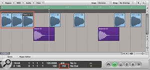 When programming drums with audio regions, using the snap Division setting allows you to easily work in specific grid resolutions. You can then use the 'Nudge Region Position Right/Leftby Division' key command to try out different patterns.
