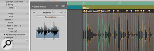 Once transients have been detected, the same quantise menu is available for audio as is available for MIDI.