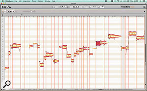 The Note Assignment view in Melodyne 4's Note Editor gives you many more options for fine–tuning its note detection.
