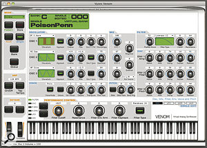 The Vyzex software editor reveals the Venom's inner workings and offers anumber of different screens to help you get the most out of its synthesis engine.