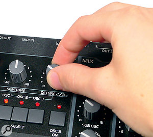 Multi-oscillator detuned bass synth patches can cause mono compatibility problems.