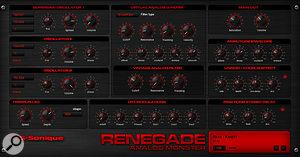The Renegade virtual-analogue synthesizer.
