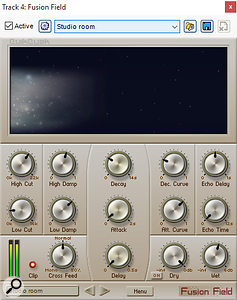Among the new processors included in the latest version of Mixcraft is the Fusion Field convolution reverb.