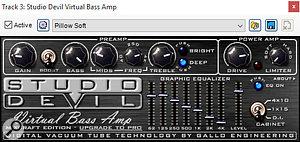 The Studio Devil Virtual Bass Amp plug-in.