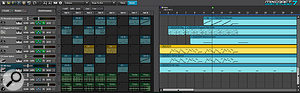The new Performance Panel is a highlight of Mixcraft 7, making it easy to come up with new arrangements on the fly.