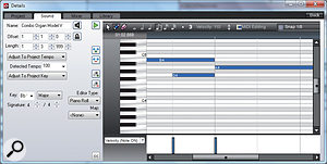Improvements to the MIDI editor include better quantising and note name display, as shown here.